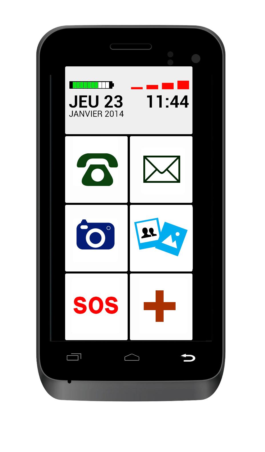 ucall easy1 le nouveau smartphone facile prix imbattable en exclusivit chez bazile telecom. Black Bedroom Furniture Sets. Home Design Ideas