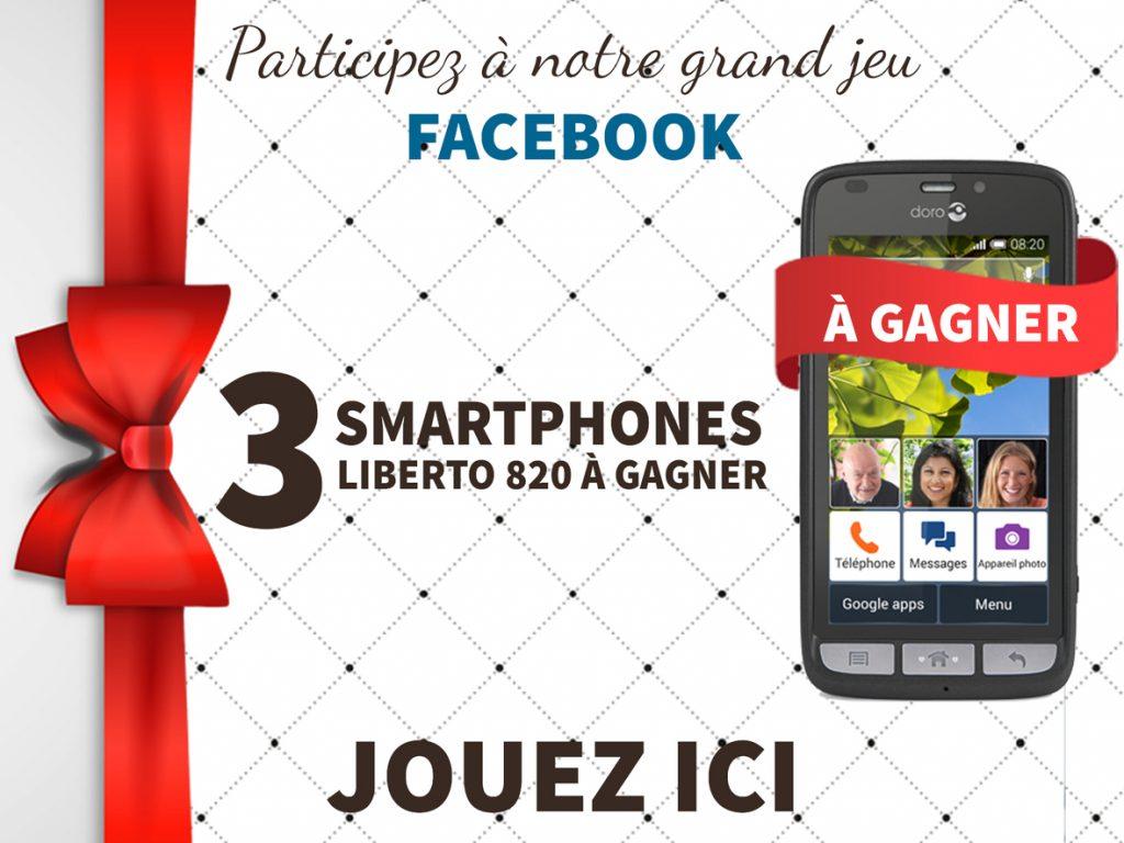 3 smartphones doro liberto 820  à gagner chez bazile telecom
