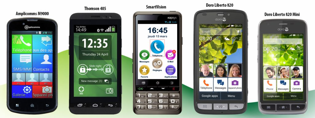 les smartphones pour les seniors