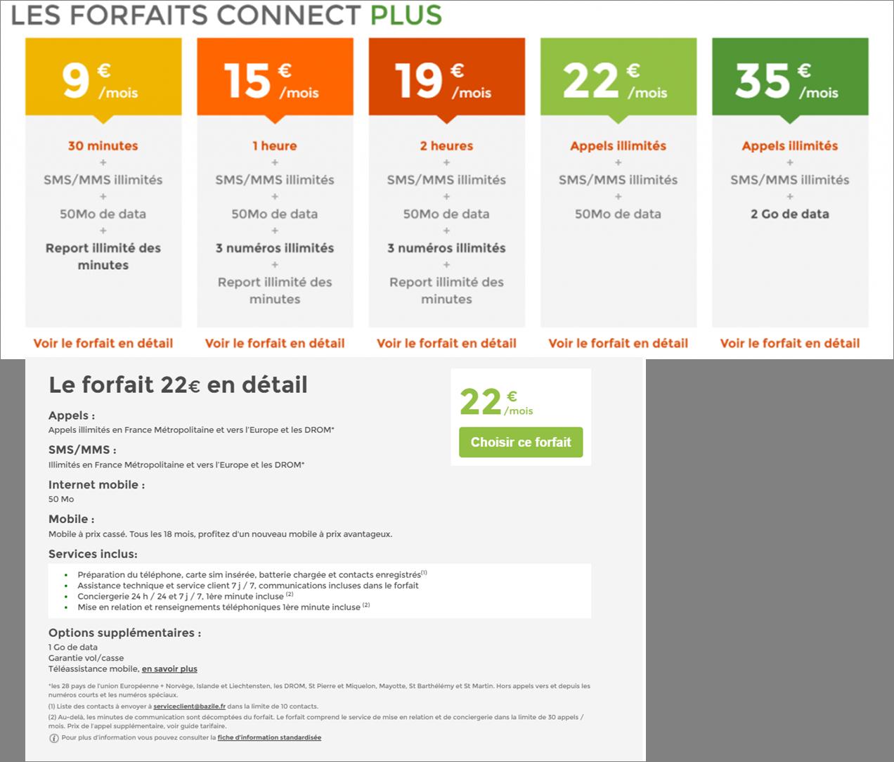 Forfait Bazile Telecom