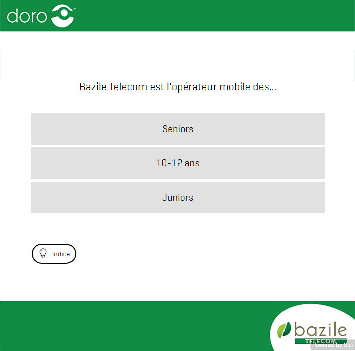 concours Facebook Doro Bazile