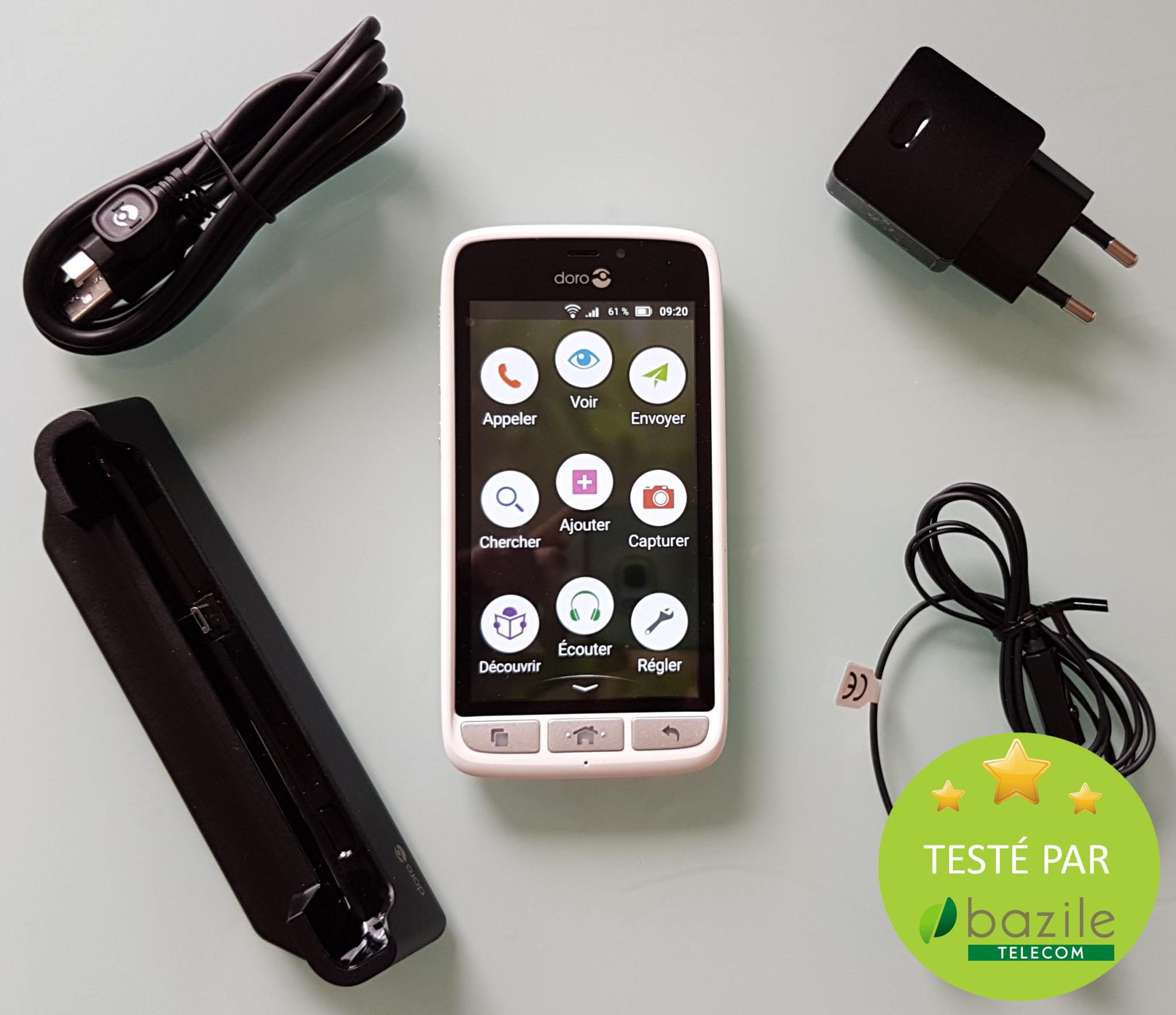 chargeur telephone sans fil pour smartphone doro