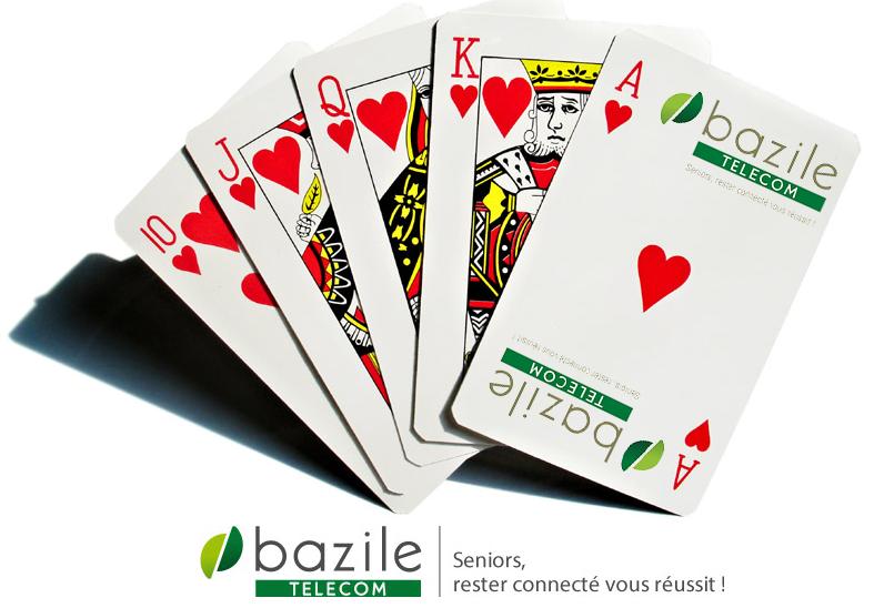 jeu de carte offert - Bazile Telecom
