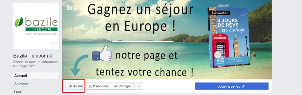 concours Facebook - Bazile