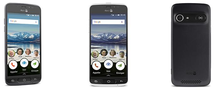 smartphones seniors - Doro 8040 - Bazile Telecom