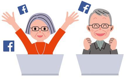 smartphones seniors - les seniors et Facebook - Bazile Telecom
