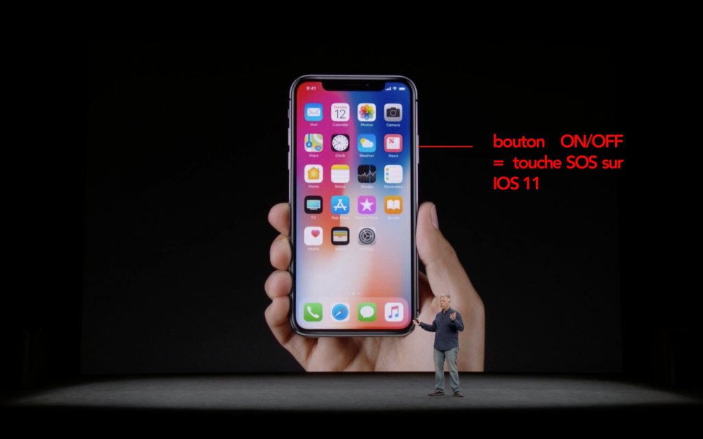 Iphone X - IOS 11 - bouton SOS - Iphone