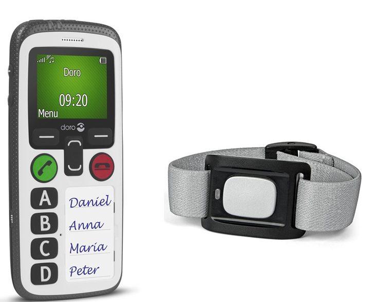 détection de chute - Doro 580 - Bracelet SOS