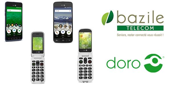 mobiles Doro - téléphones seniors - Doro 8035 - Bazile