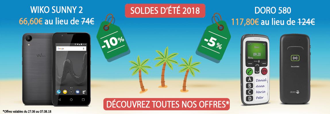 soldes d'été - Bazile - smartphones - Doro 580