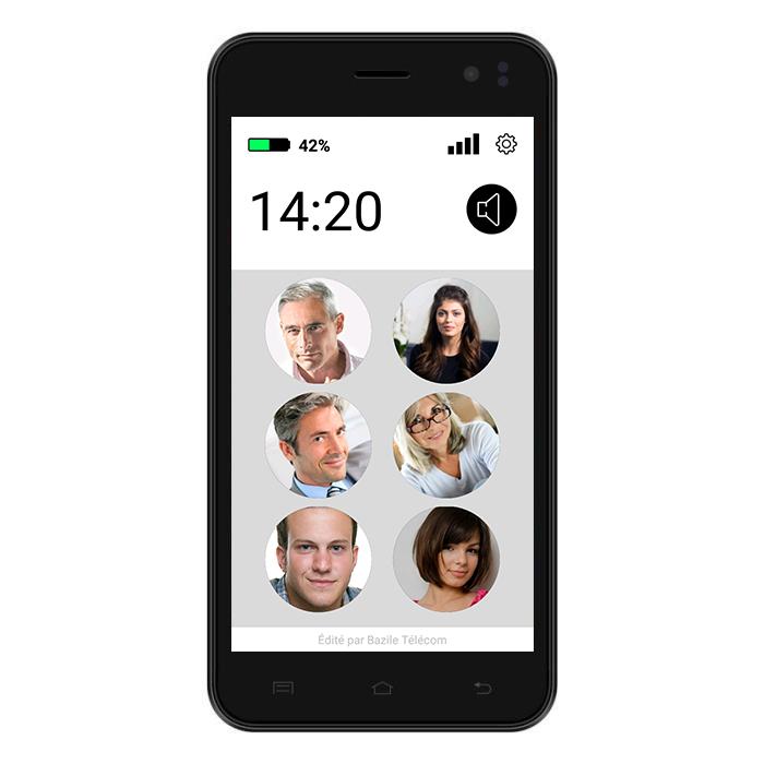 Sélectionner pour prononcer - smartphones Easy - Bazile