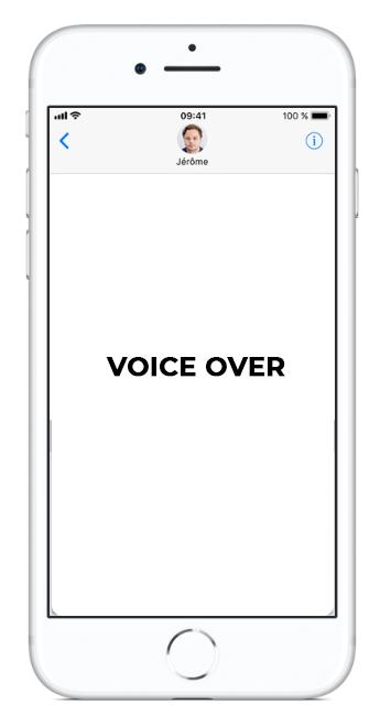 Sélectionner pour prononcer - Voice Over - accessibilité