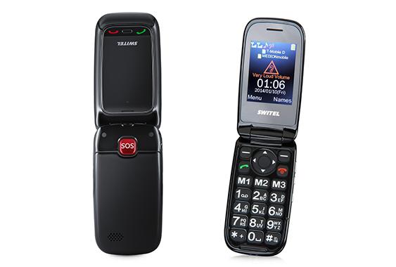Switel M270 - mobile à clapet - téléphone amplifié