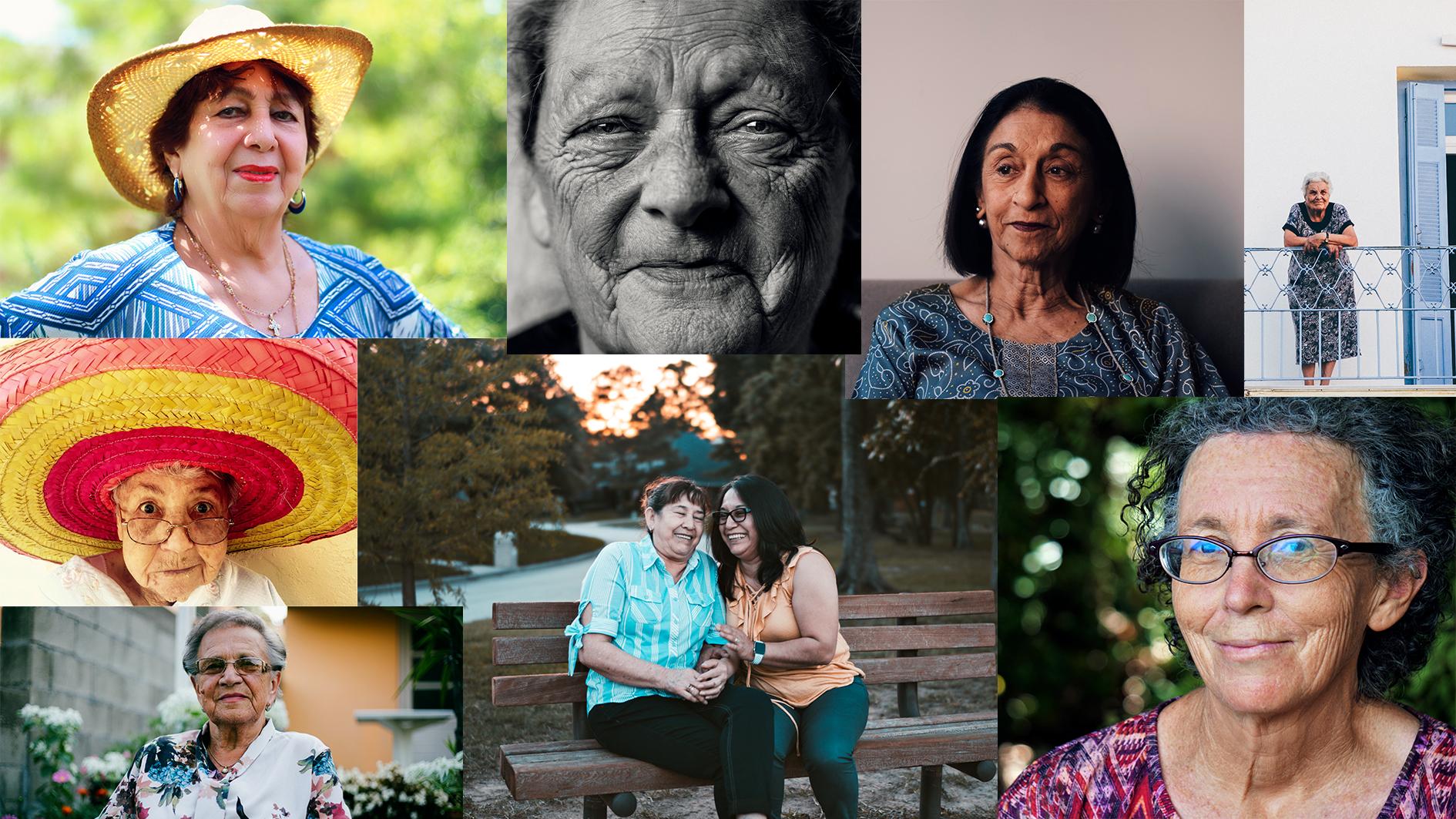 portraits de femmes âgées fête des grand-mères