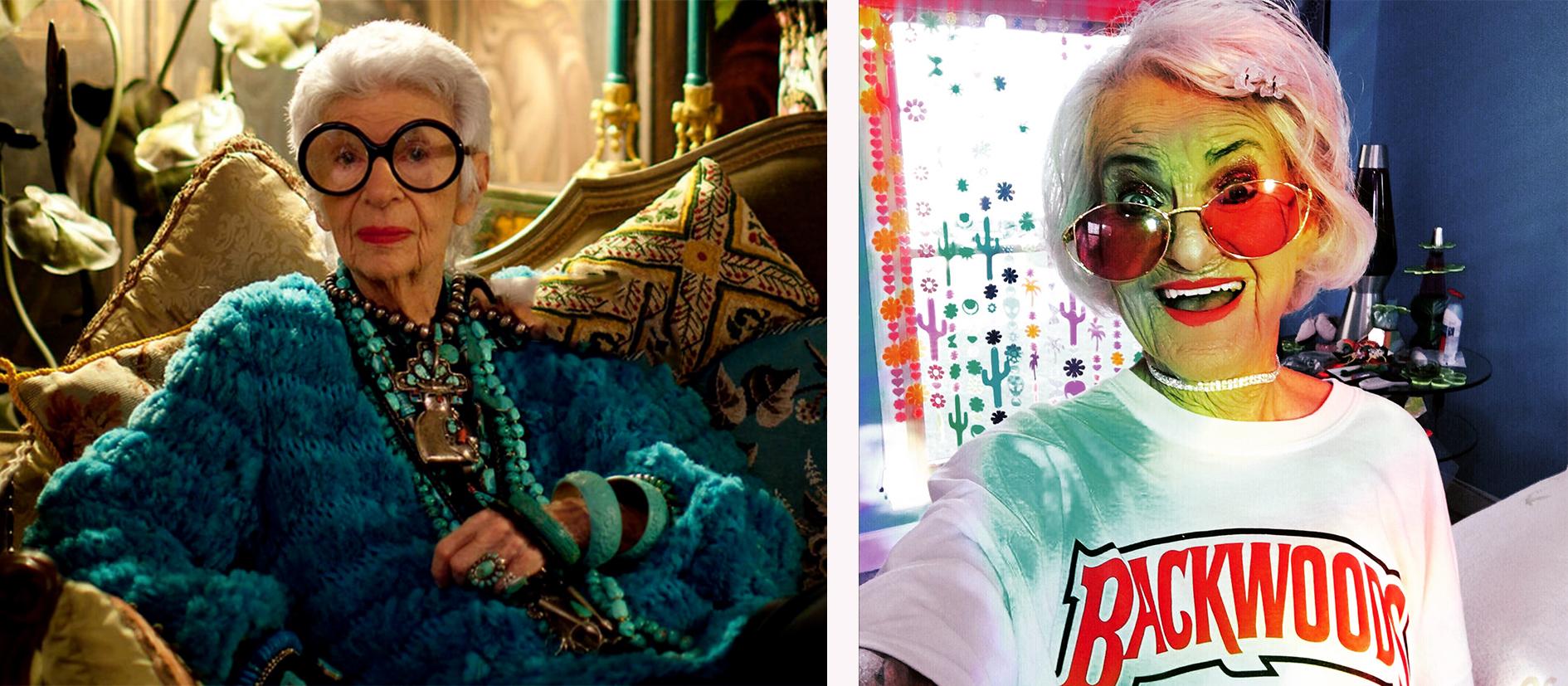 Baddie Winkle, Iris Apfel fête des grand-mères
