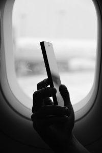 téléphone dans l'avion