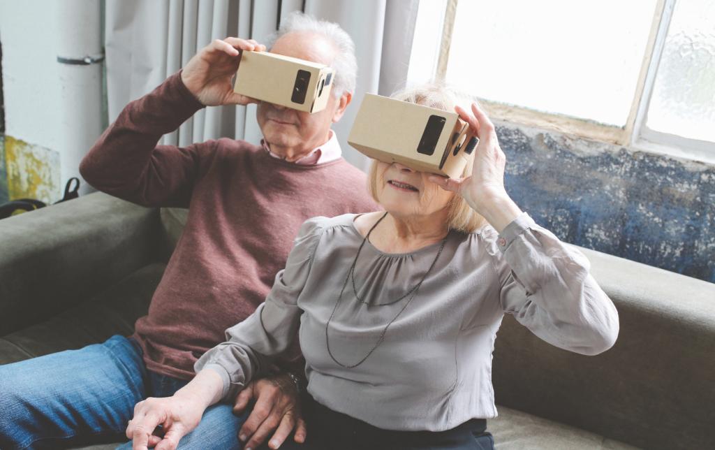 Casque en carton réalité virtuelle - Bazile